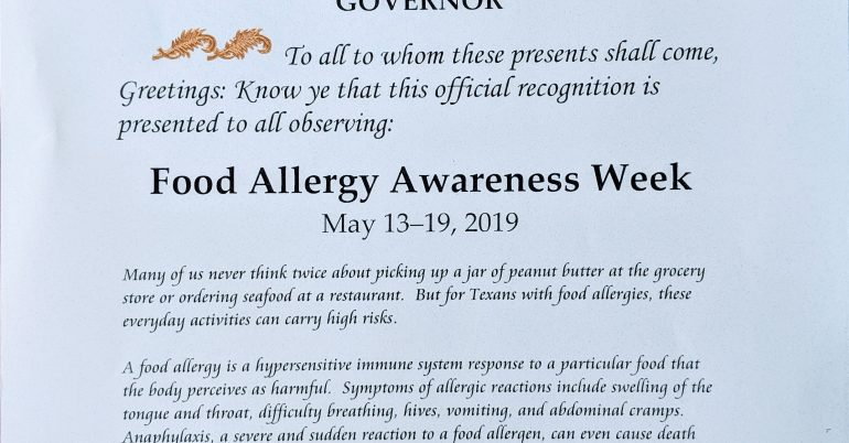 It's Food Allergy Awareness Week!
